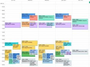 calendario horarios yoga